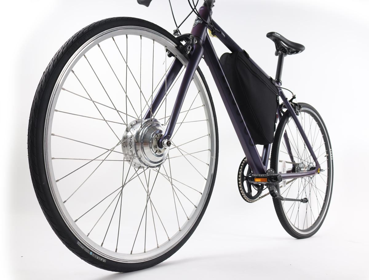 panda bikes early prototype e-bike conversion kit
