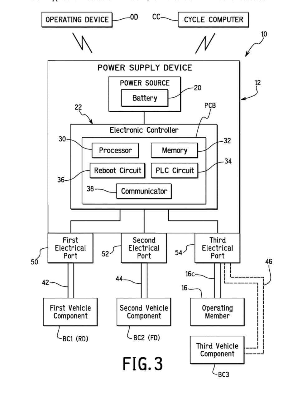 Wireless shifting diagram