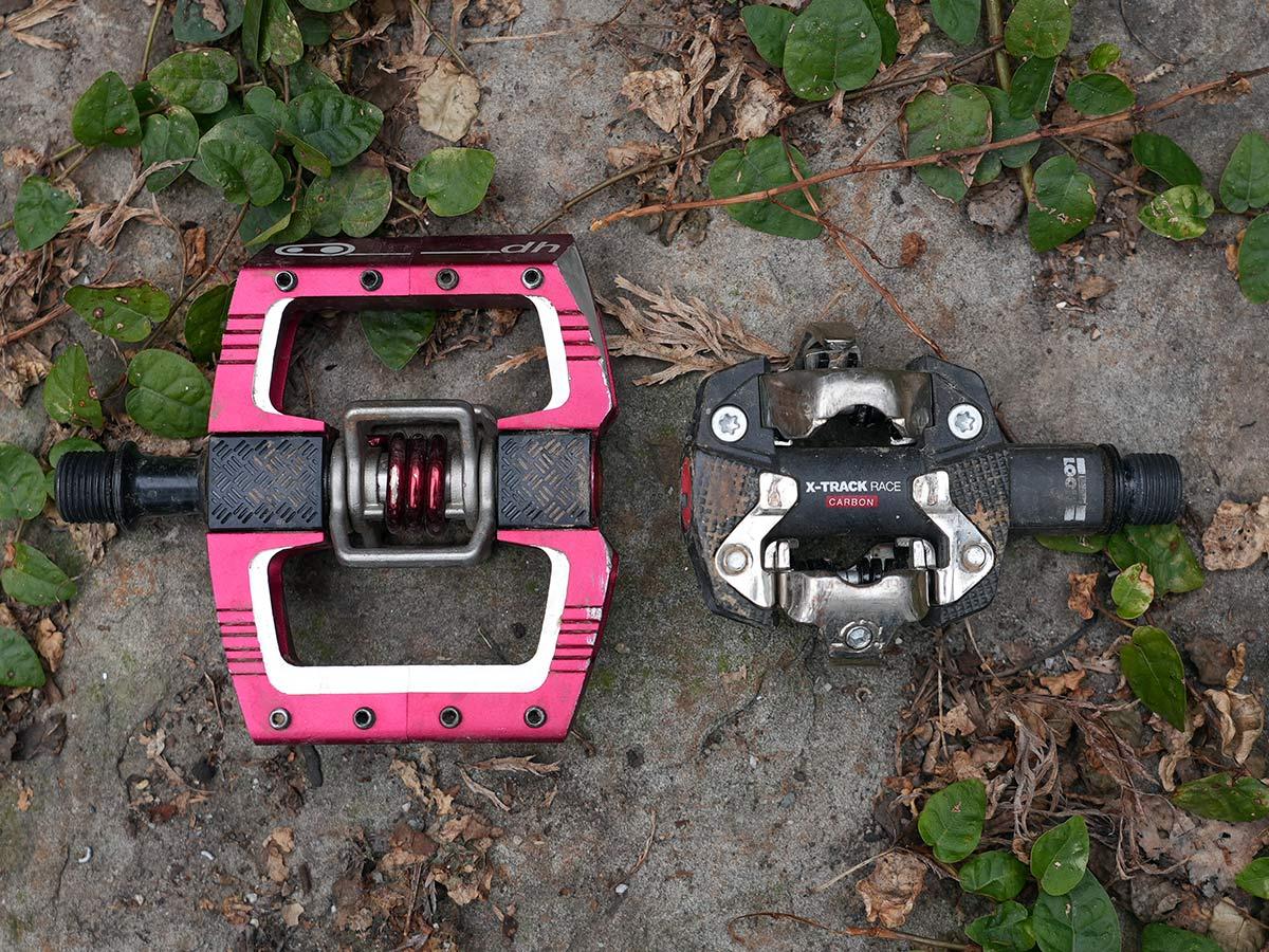 xc versus trail versus enduro mountain bike pedals