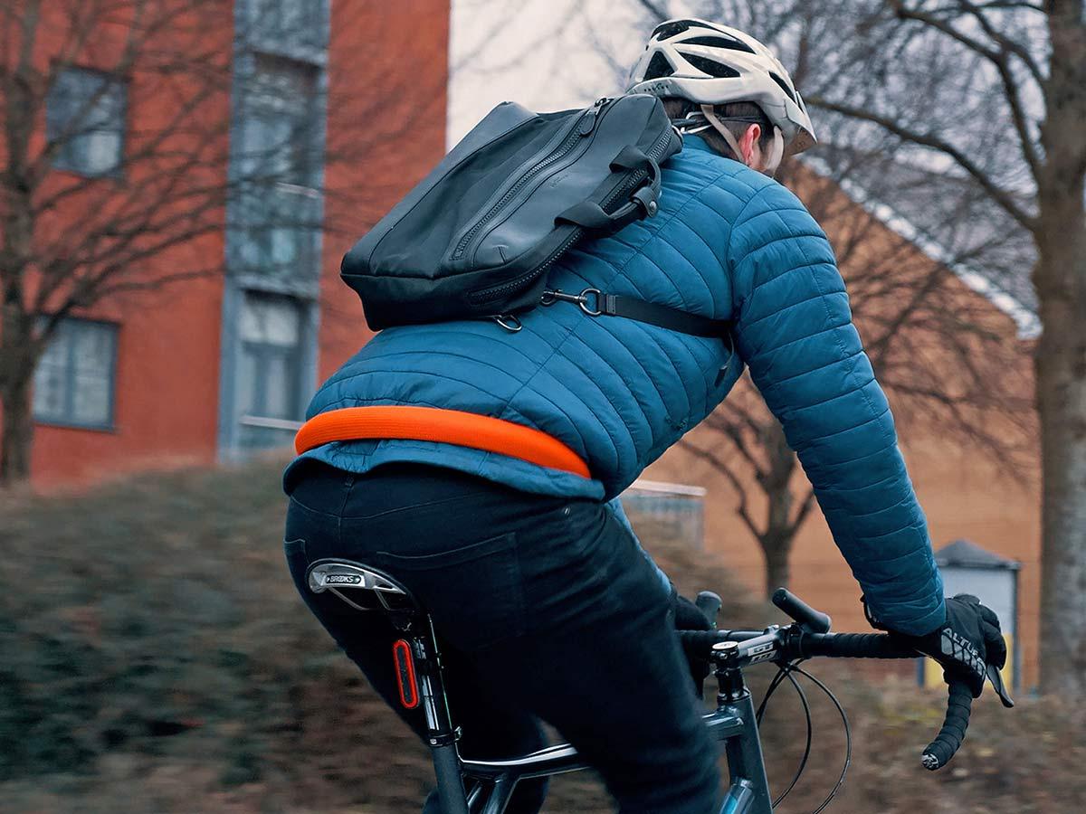 Litelok Core lightweight flexible wearable Sold Secure Bicycle Diamond city bike lock,on waist