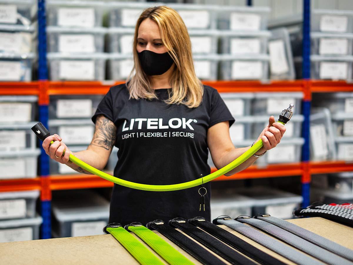 Litelok Core lightweight flexible wearable Sold Secure Bicycle Diamond city bike lock,UK-made