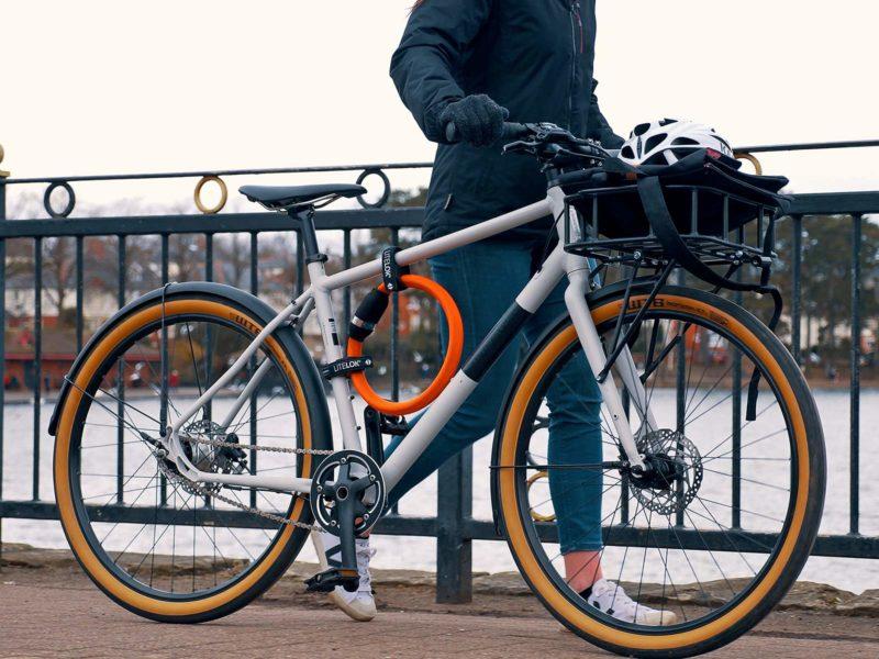 Litelok Core lightweight flexible wearable Sold Secure Bicycle Diamond city bike lock,on bike mount