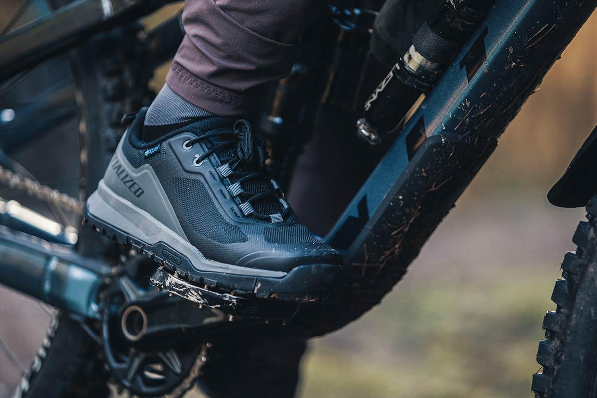 specialized rime flat pedal mtb shoe good for hike-a-bike
