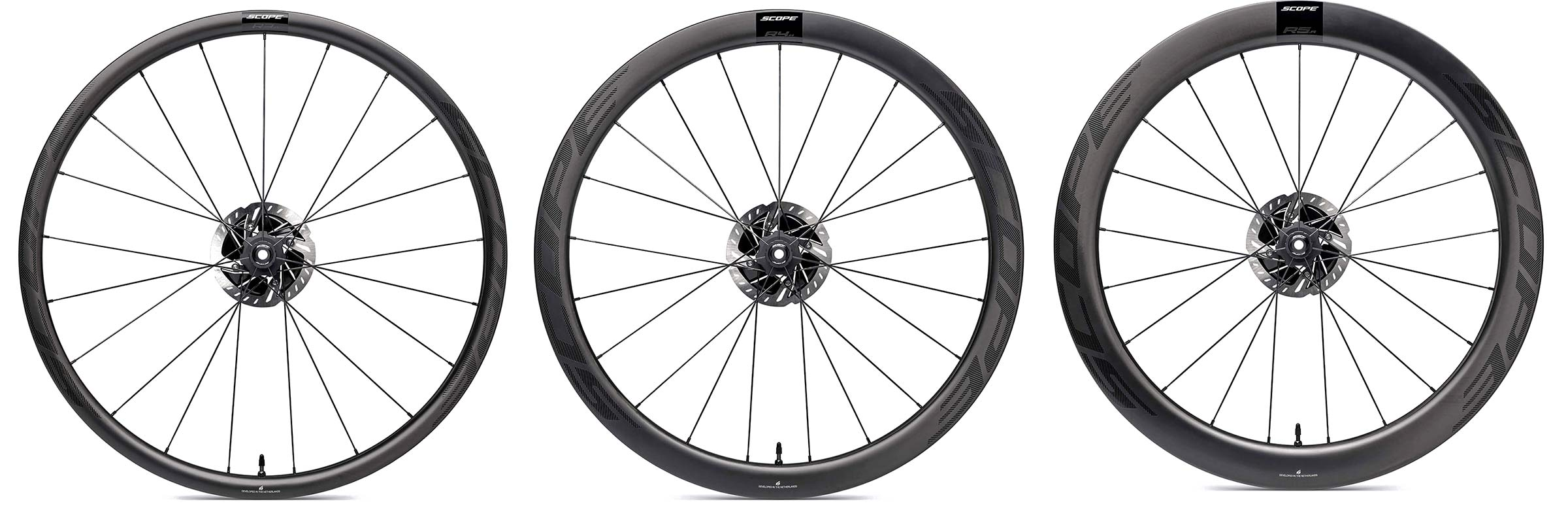 Scope All-Road aero carbon gravel bike wheels, lightweight aerodynamic tubeless rims