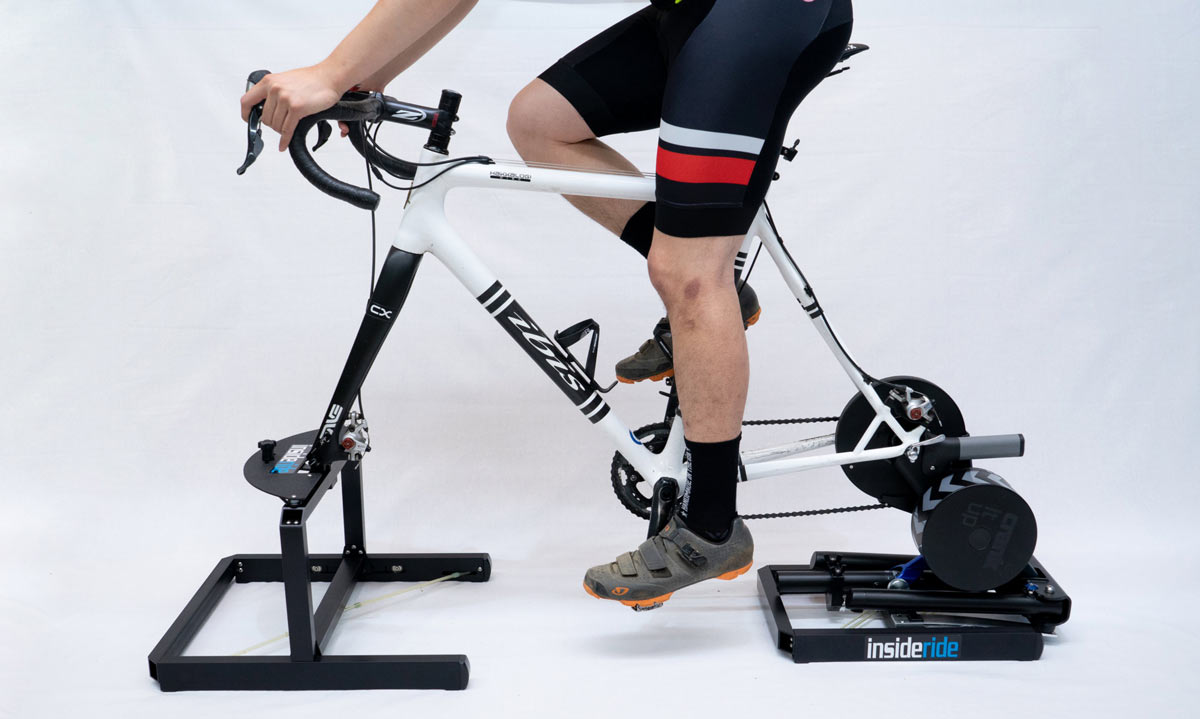 inside ride flex mount platform for indoor cycling trainers