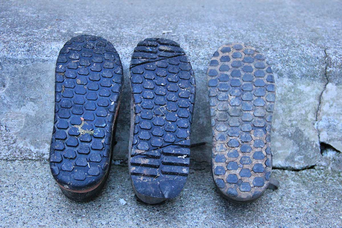 specialized rime mtb flats comparison 2fo dh 2foroost tread patterns