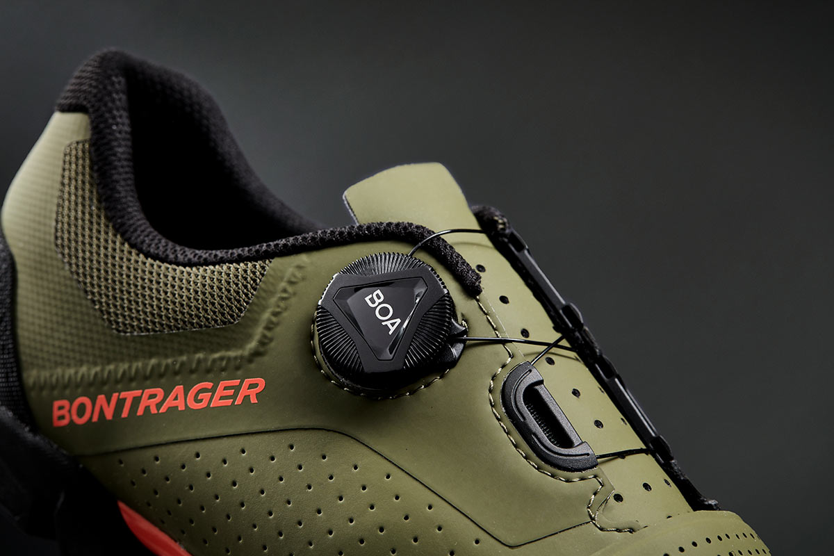 bontrager foray mountain bike and gravel shoe BOA L6 dial details