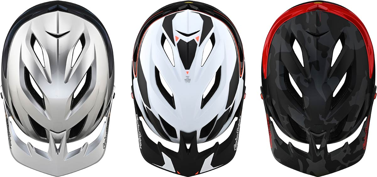 troy lee designs a3 mtb helemt top view