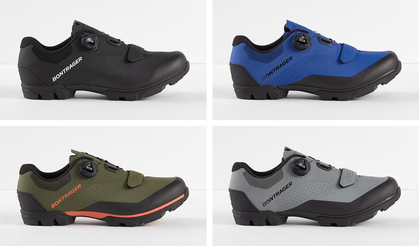 bontrager foray mountain bike and gravel shoe color options