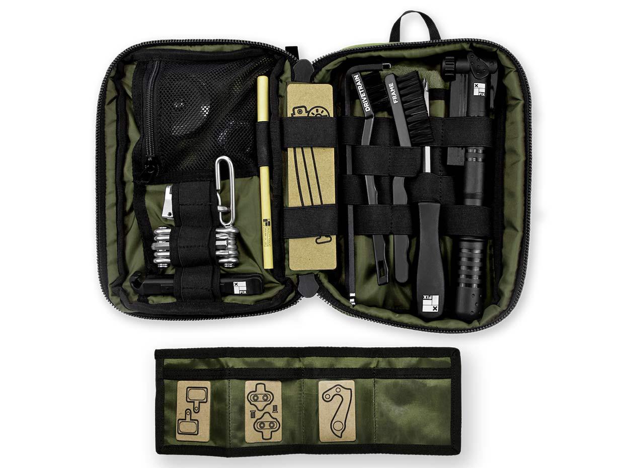 Fix Mfg MTB Field Kit, trailside mobile mountain bike setup tools, expansion organization