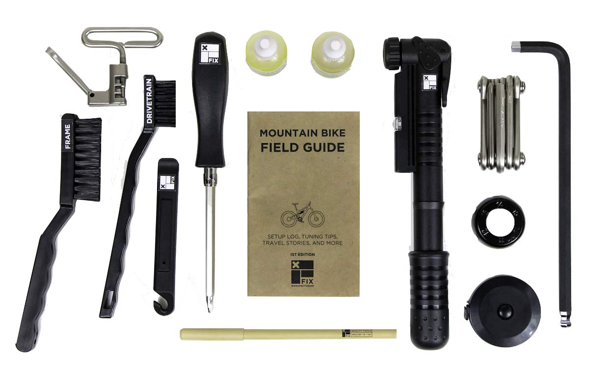Fix Mfg MTB Field Kit, trailside mobile mountain bike setup tools, included tool contents