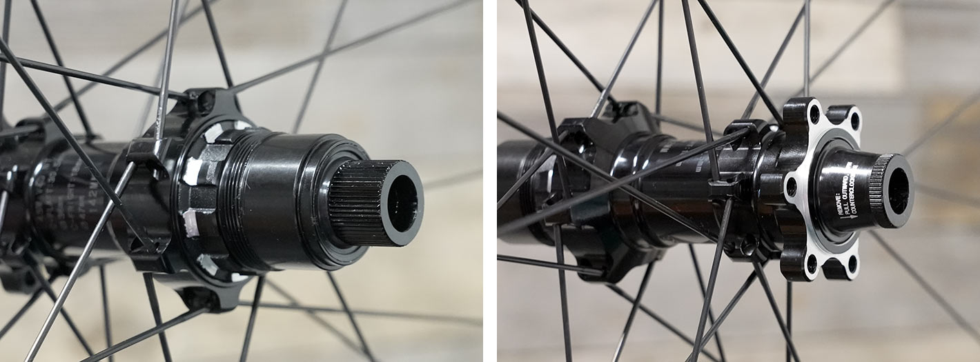 e13 xcx race carbon gravel wheels rear hub details