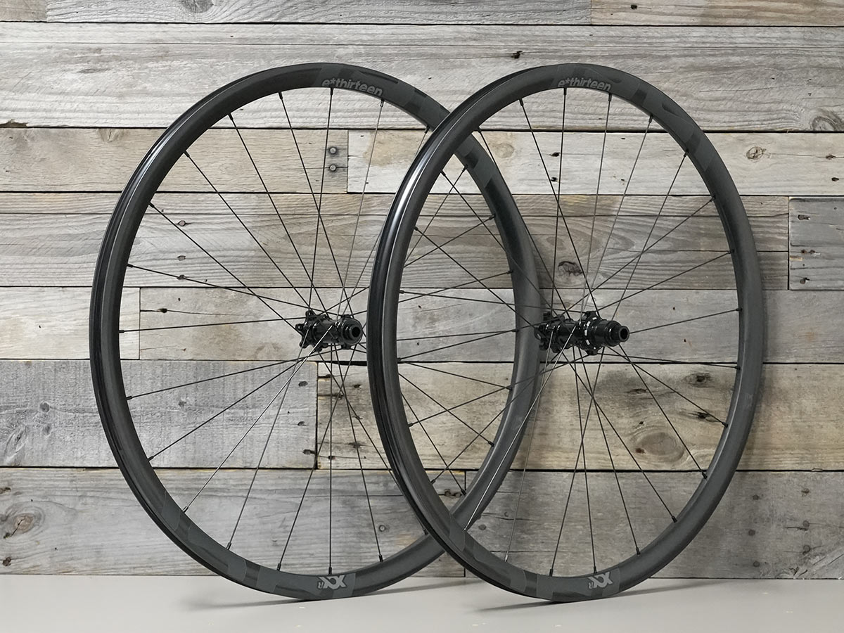 e13 xcx race carbon gravel wheels side by side