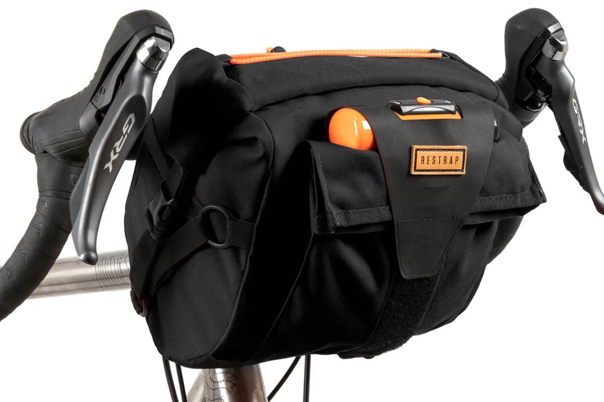 restrap bar back handlebar bag bikepacking hypalon closure d-lock carry