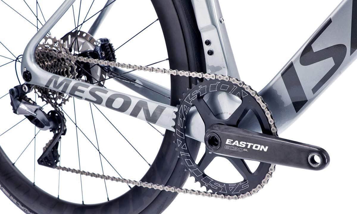 Isaac Meson X Classified 1x aero road bike, wireless electronic internal gear hub 2x11 carbon road race bike,drivetrain detail