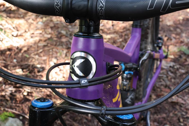 2021 Knolly Fugitive 138, internal cable routing