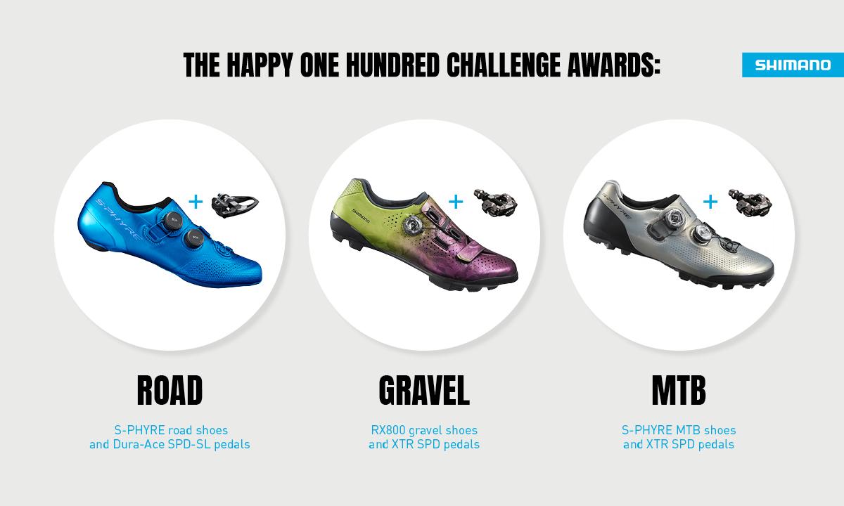 Shimano Happy 100 challenge strava prizes
