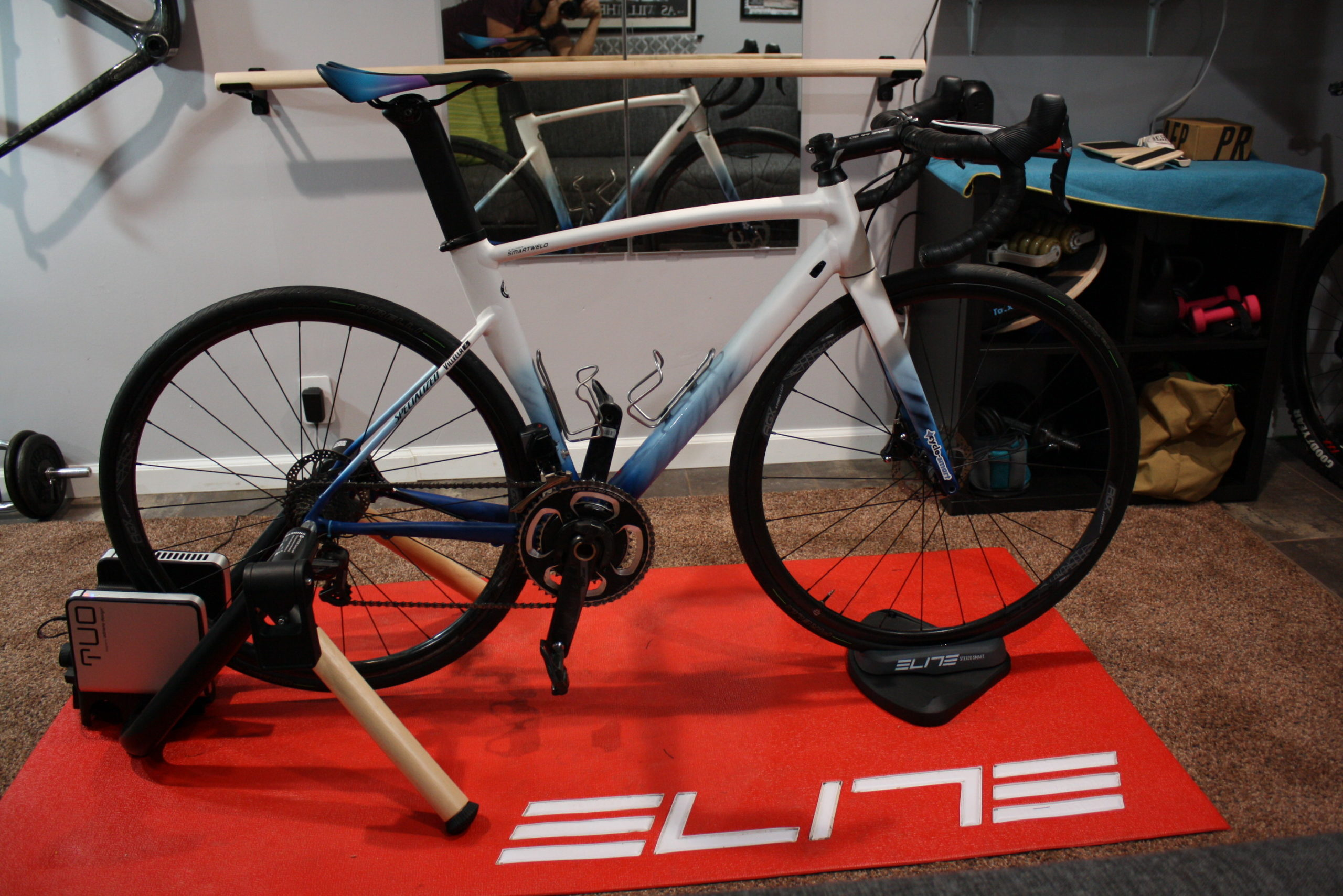 Elite Tuo Trainer Review Full Bike attached