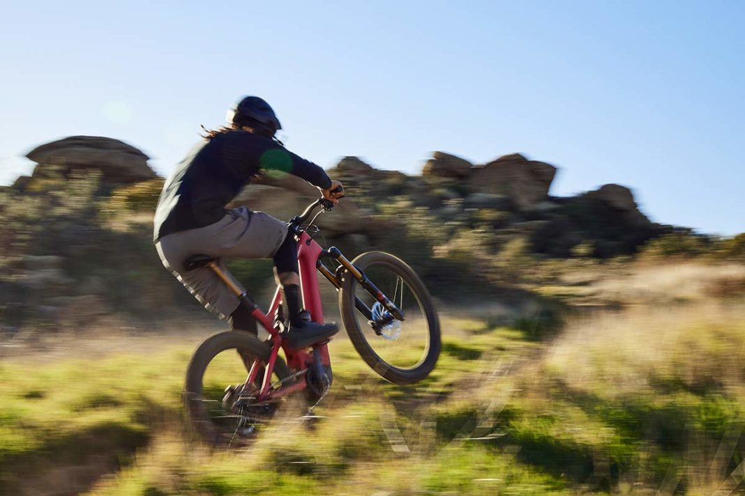 new specialized turbo levo 3 e-mountain bike action photo