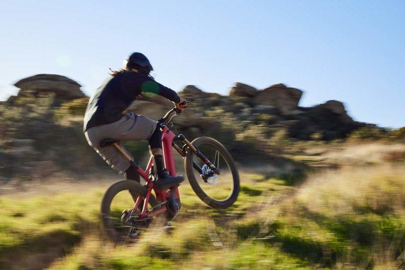 new specialized turbo levo 3 e-mountain bike action photo