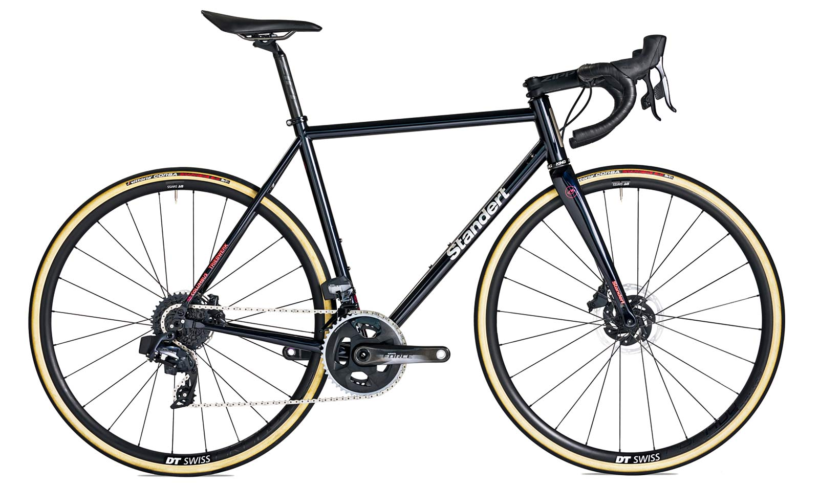 2021 Standert Triebwerk Disc all-road bike, updated modern Columbus steel road bike, black complete