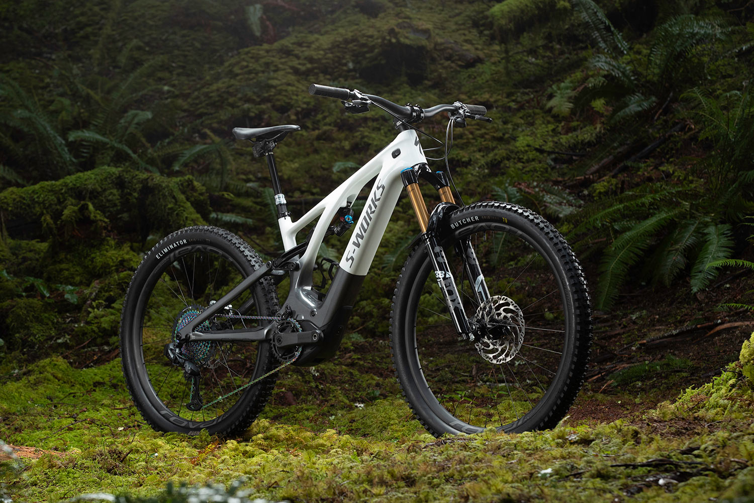 2021 specialized turbo levo third generation eMTB shown in the forest