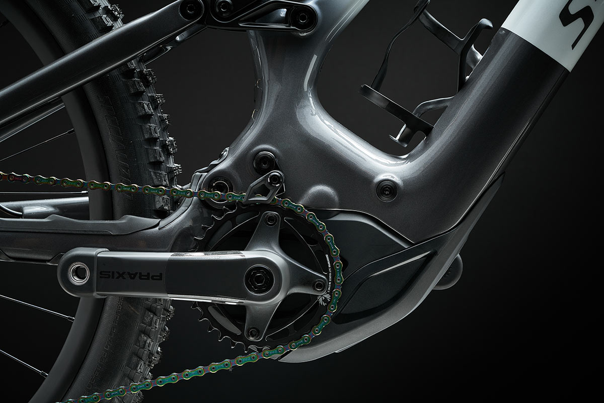 2021 specialized turbo levo third generation eMTB 2.2 motor closeup