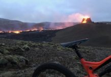 bikerumor pic of the day mountain biking Fagradalsfjall volcano in Iceland