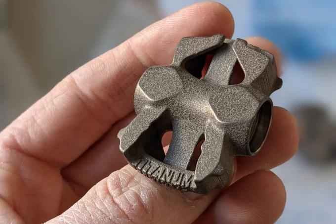 Titanum MyTi 3D printed titanium dual sided clipless pedal body