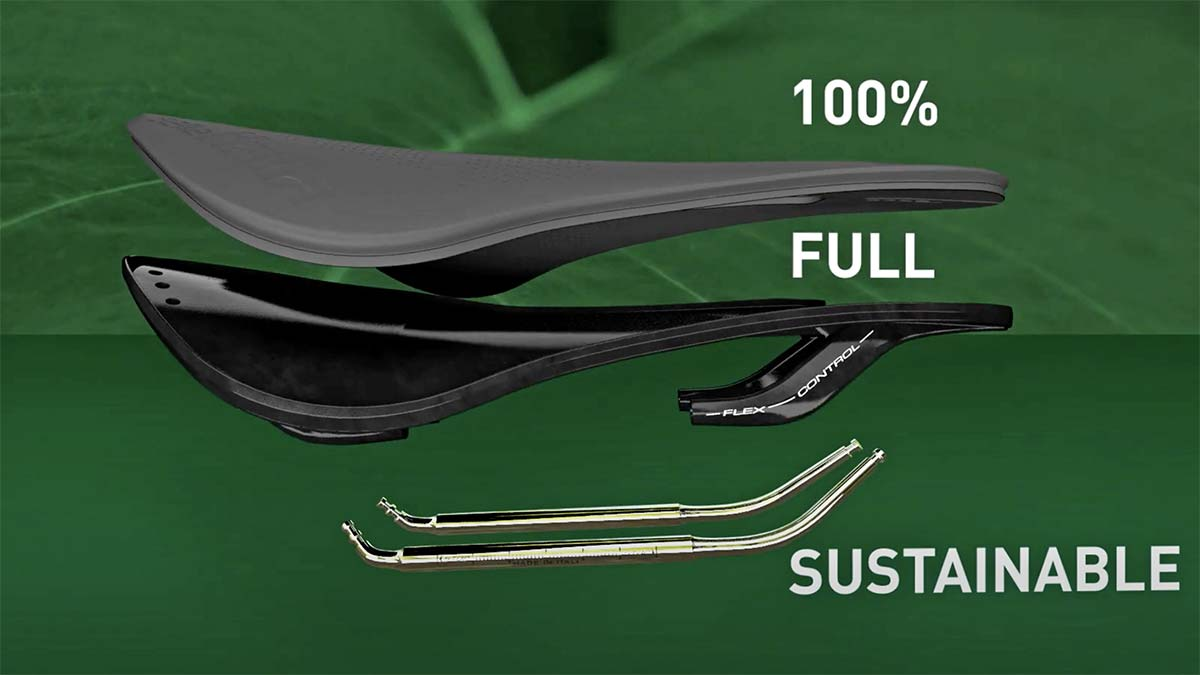 Selle Italia Model-X Green Superflow affordable eco-friendly sustainable saddle, exploded view