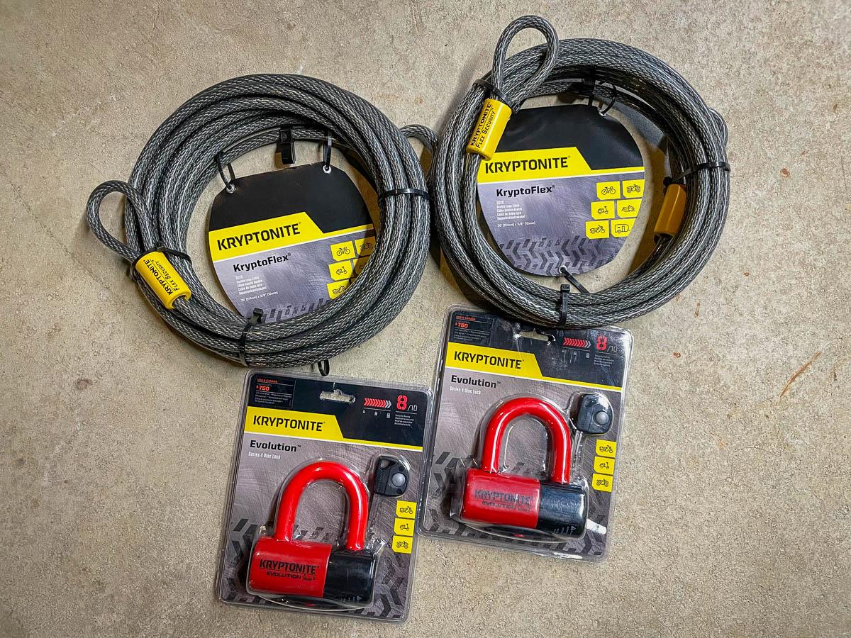 Kryptonite Kryptoflex Cables & Evolution Series 4 Disc Locks