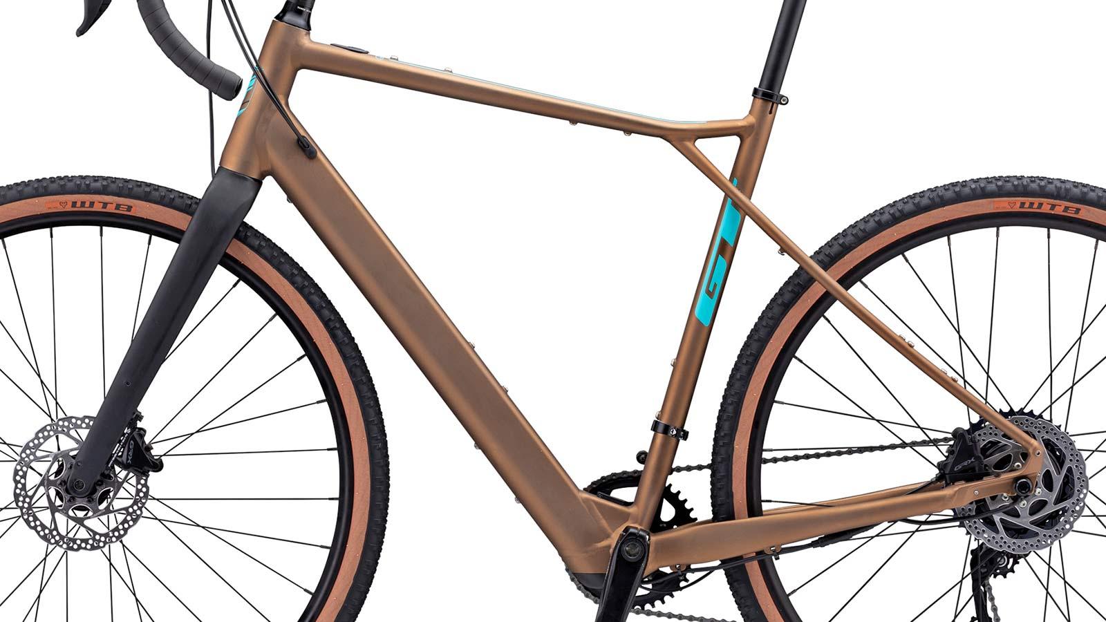 GT Grade Power lightweight, affordable alloy gravel e-bike, NDS frameset detail