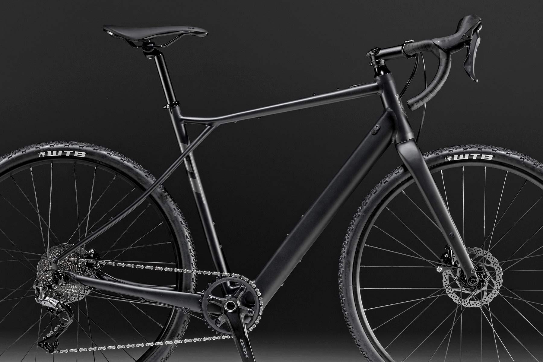 GT Grade Power lightweight, affordable alloy gravel e-bike, frameset detail