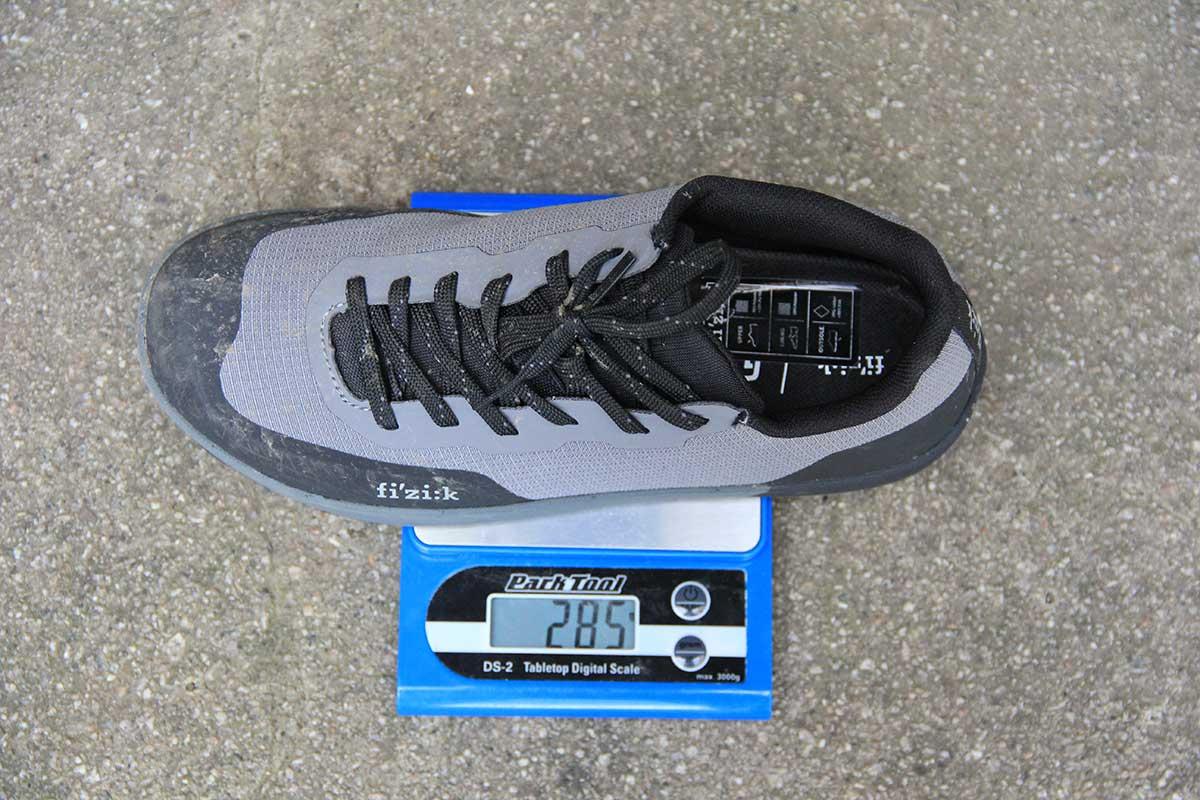 fizik gravita versor flat shoe eu 38 weighs 285g