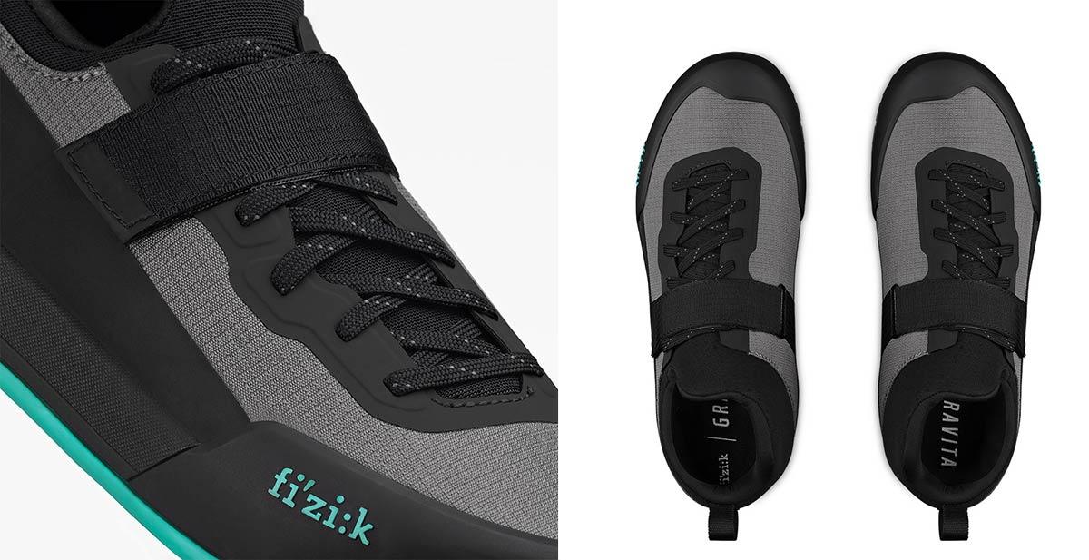 fizik gravita tensor dh enduro mtb shoe velcro strap ergolace
