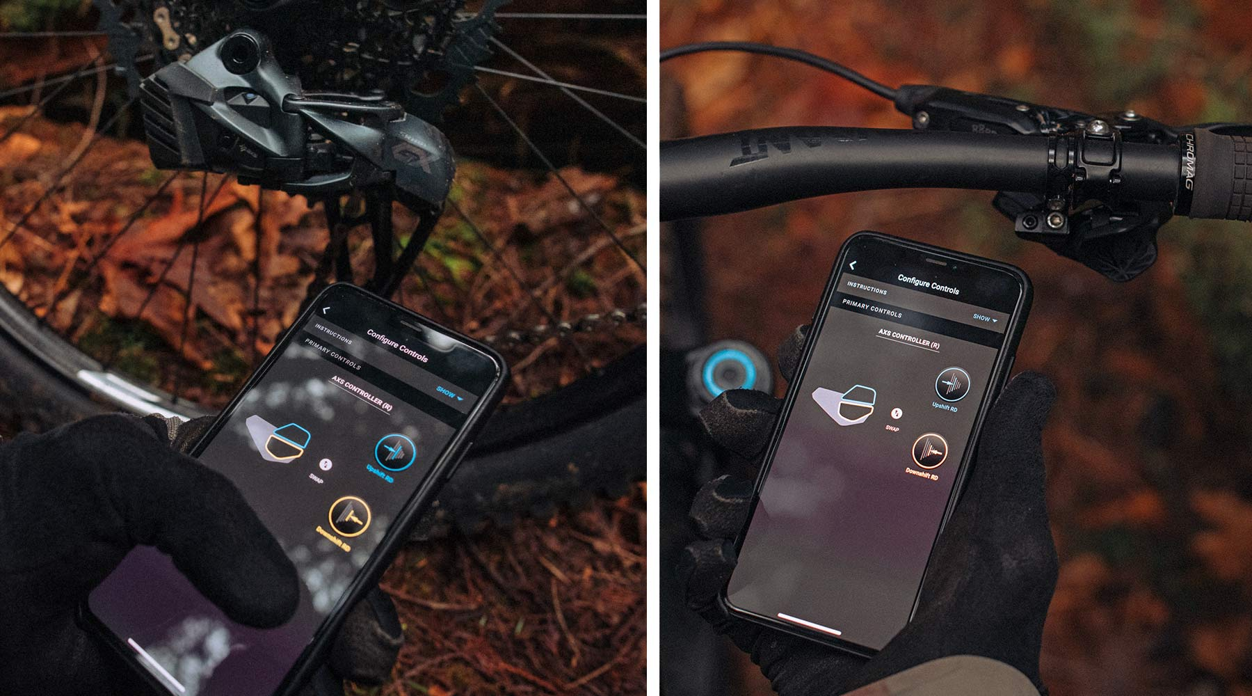 SRAM GX Eagle AXS group, low-cost 1x12-speed wireless electronic app setup & control