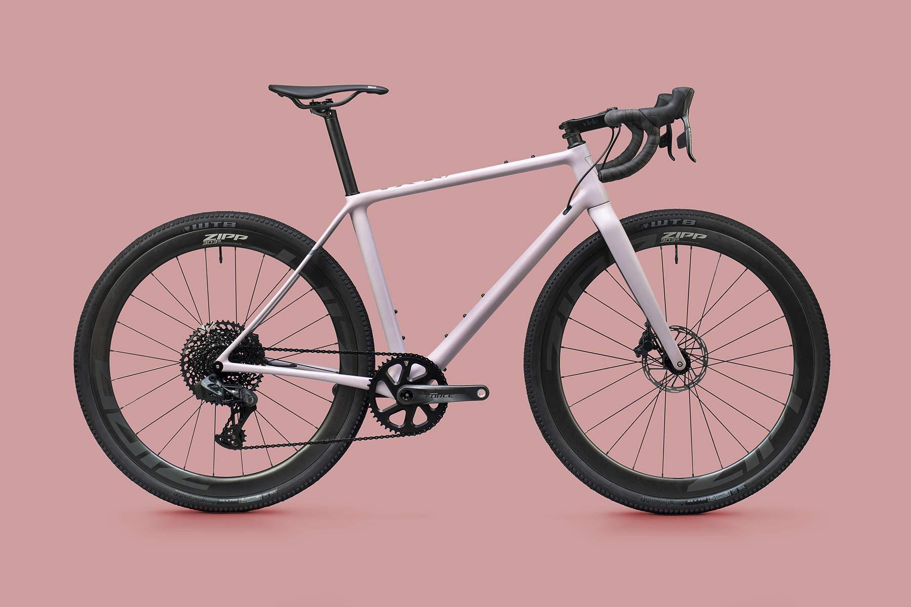 Vielo V+1 gravel bike, updated gen2 lightweight carbon fast gravel race bikes