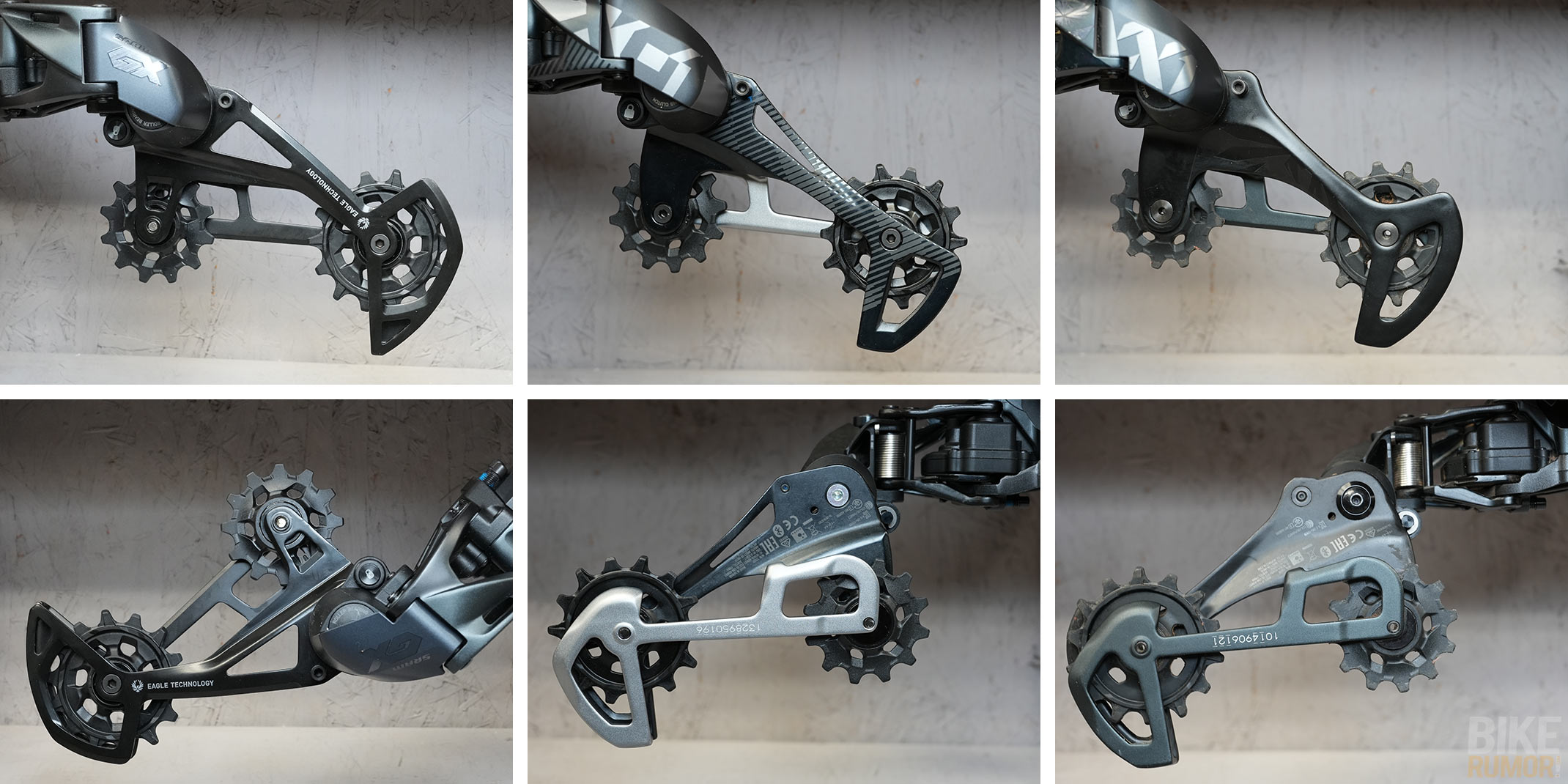 sram eagle axs wireless rear derailleur cage comparison