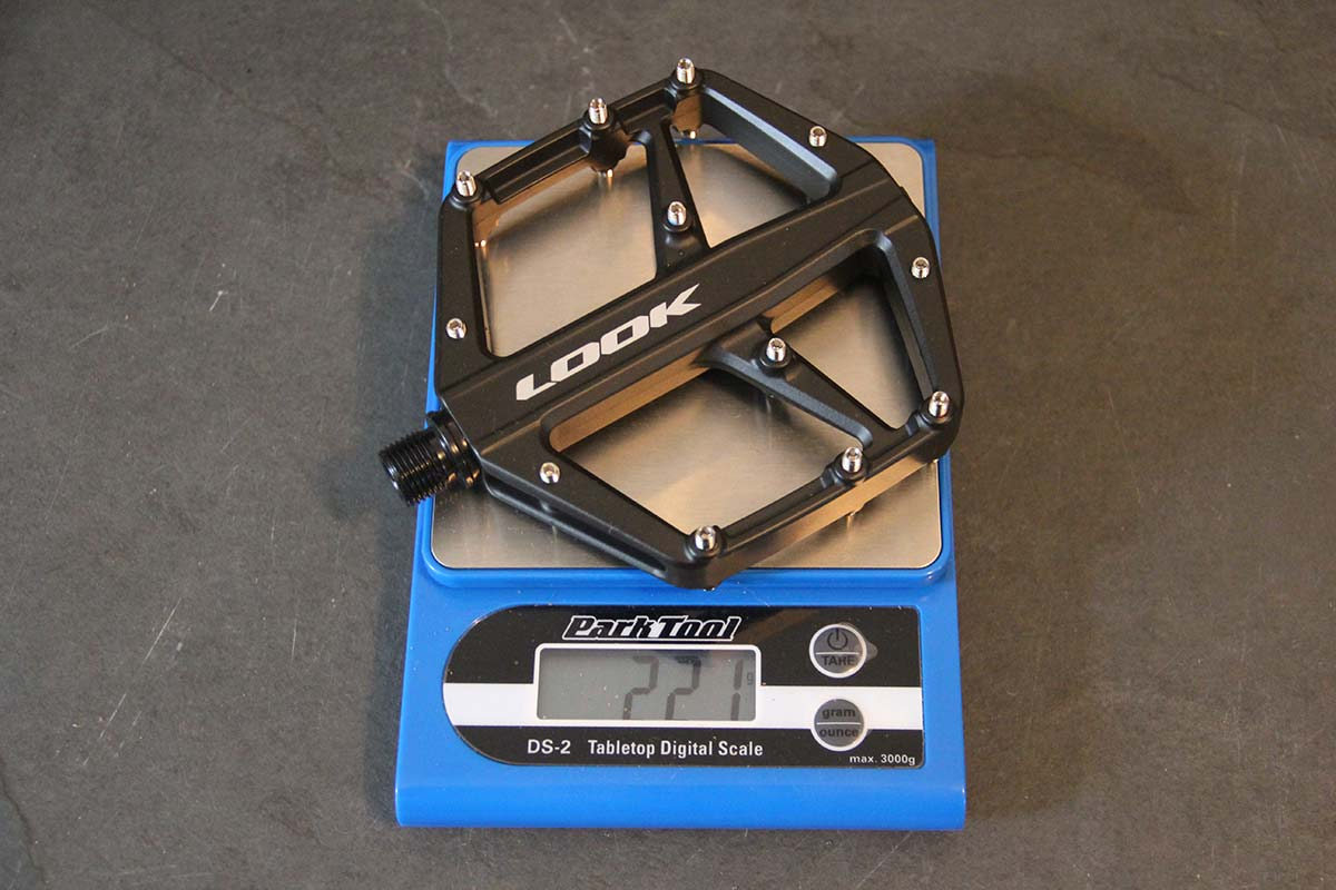 look trail roc flat pedal actual weight 221g