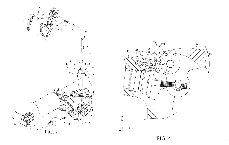 Tektro Parking Brake blowup diagram