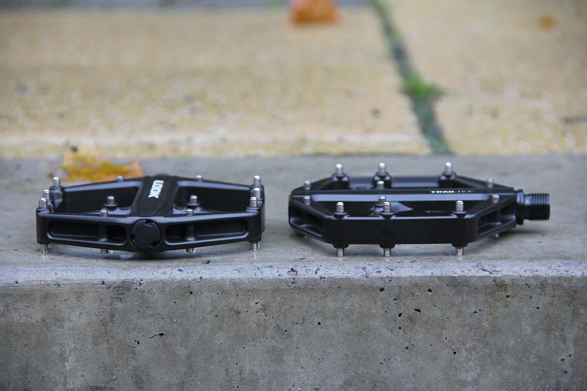 look trail roc pedal pin height arrangement