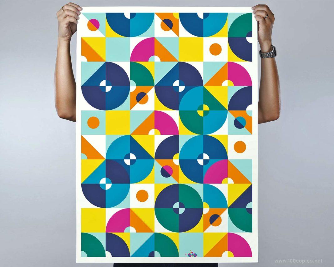 100copies #47, 8 Cyclists art print complete