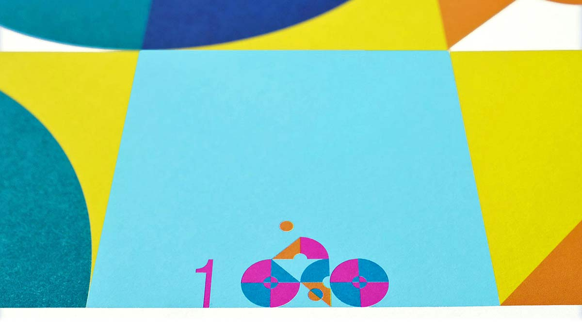 100copies #47, 8 Cyclists art print