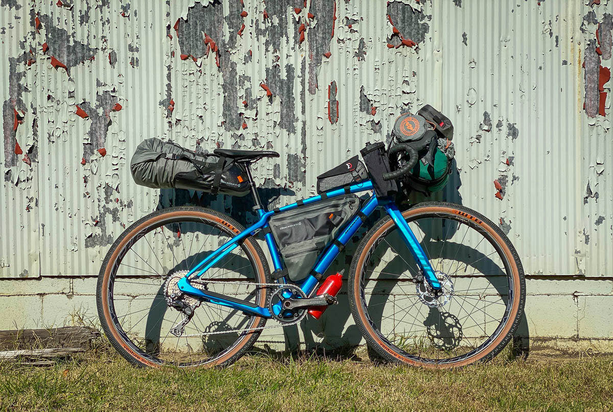 Easton EC90 AX gravel wheels as bike packing