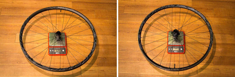 Easton EC90 AX gravel wheels actual weight