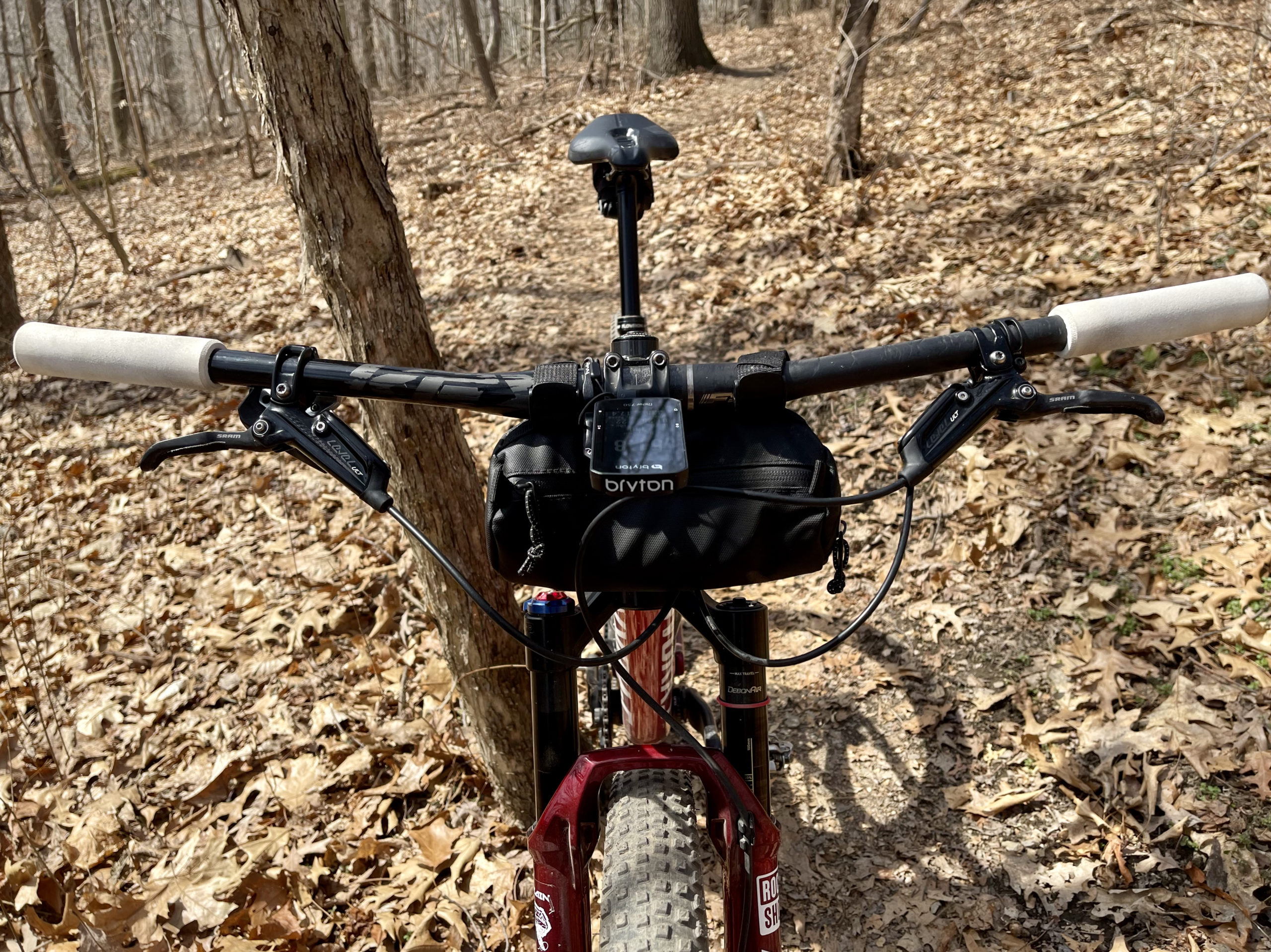 Bryton Rider 750 Review front view trails