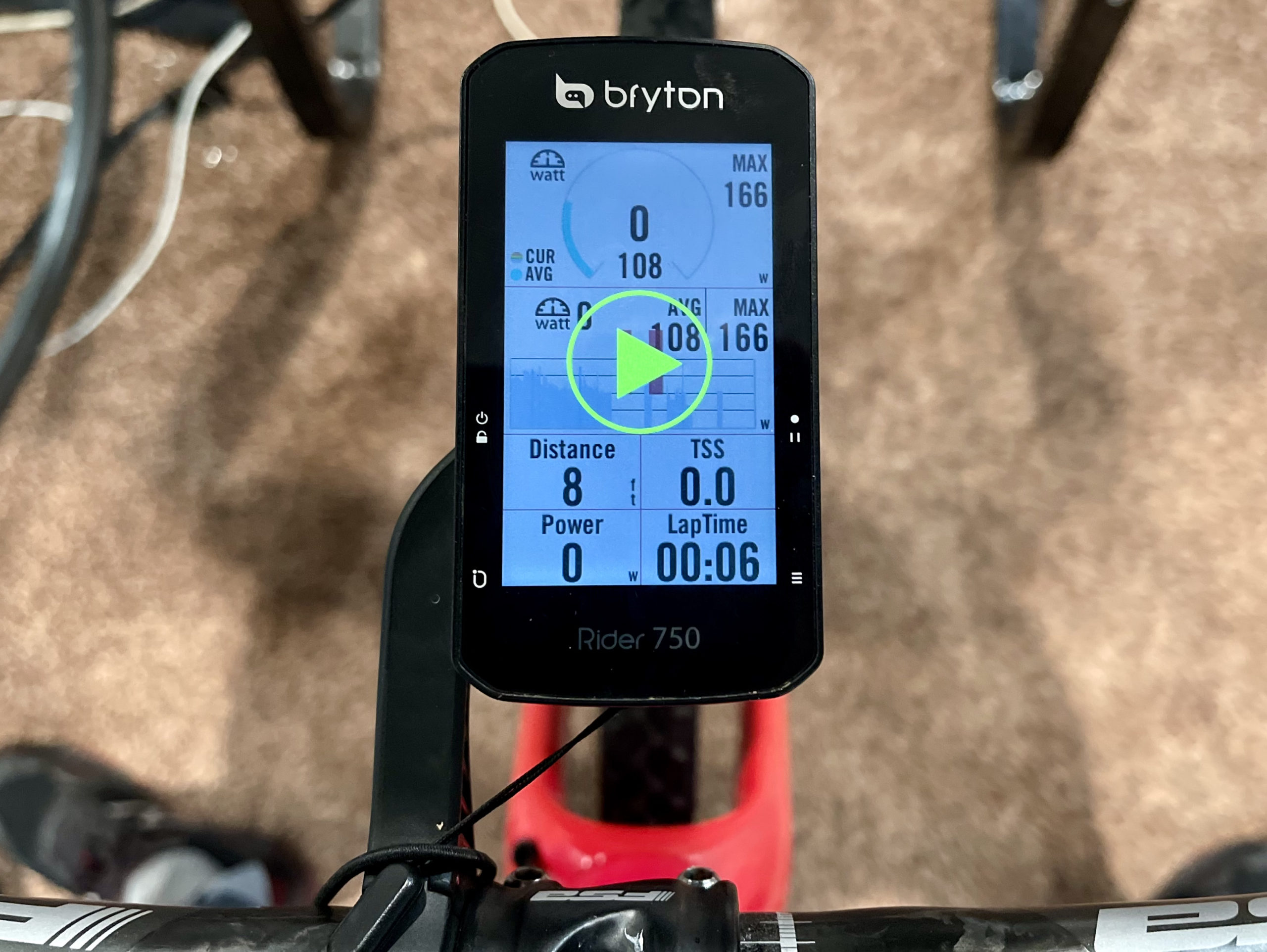 Bryton Rider 750 Review trainer GUI