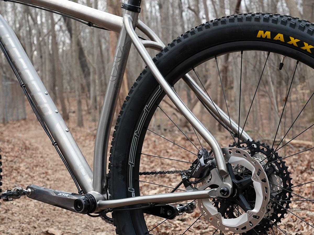 litespeed pinhoti 3 titanium hardtail trail mountain bike closeup details
