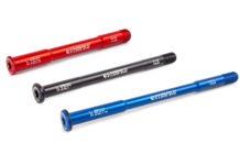 Carbon-Ti X-Lock Evo thru axles, lightweight 7075 alloy bolt-on replacement thru-axles