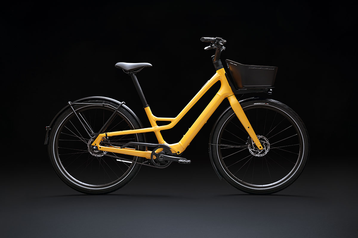 specialized como sl commuter ebike yellow internal gear hub gates belt drive
